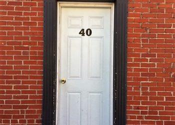 40 w james front door